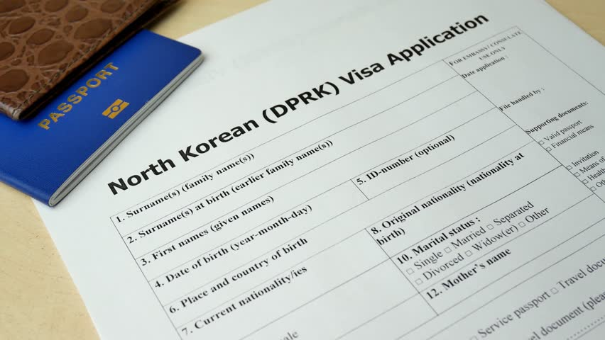 North Korean Dprk Visa Application Stock Footage Video (100% Royalty-free)  1018874599 | Shutterstock