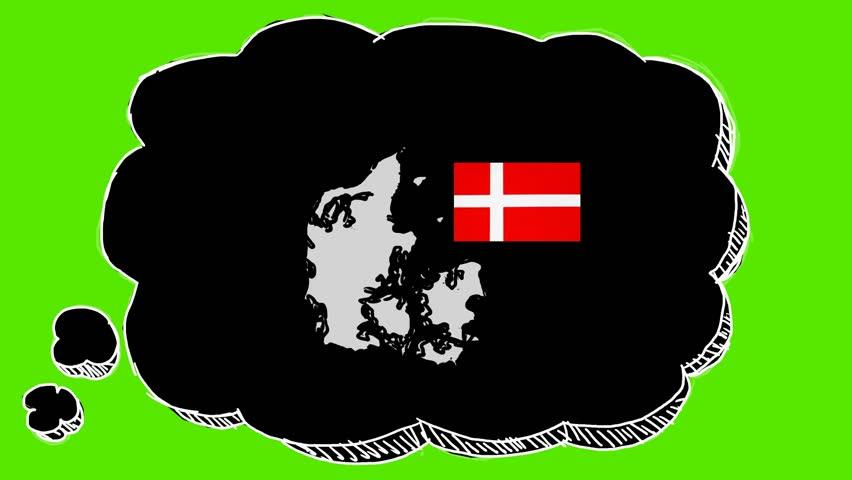 Denmark - 2d Hand Drawn Animation   Shutterstock HD Video #1019365519