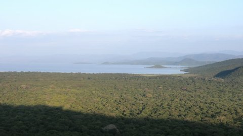 Panning view of Nechisar national park in Ethiopia.