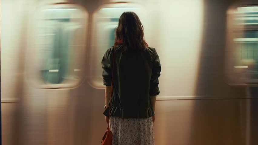 Young woman on the subway station | Shutterstock HD Video #1019773009