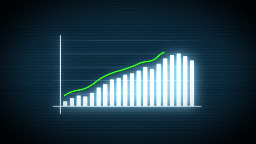 4k Business Growth And Success Arrow Infographics/ Animation of a business infographics with rising arrow and bar stats appearing, symbolizing growth and success, with glitch and noise digital effects | Shutterstock HD Video #1019802919