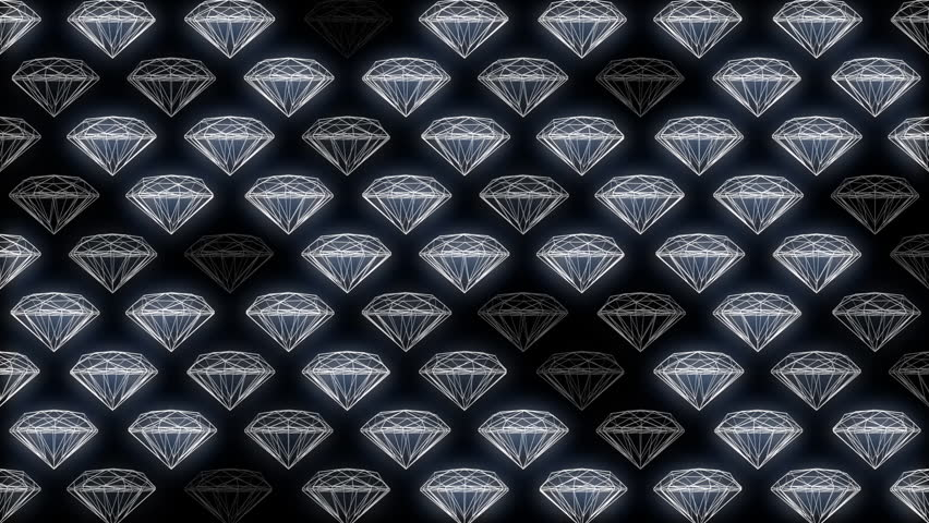 White geometric diamonds spinning and turning on a dark background | Shutterstock HD Video #1019839099