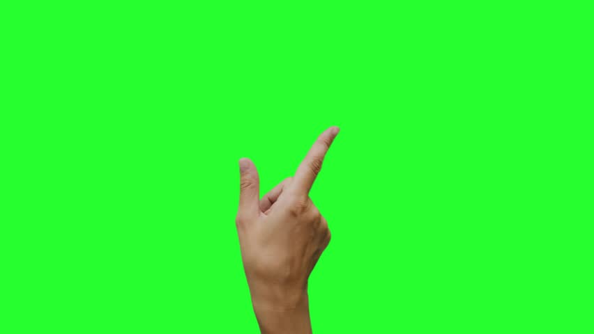 Hand gestures. Touchscreen. Female hand showing multitouch gestures in green screen.  | Shutterstock HD Video #1020102499