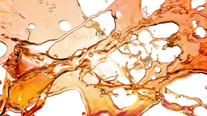 Liquid Splash. Alcohol, Tea, Cola.