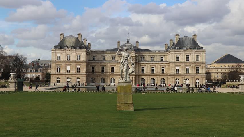 Timelapse of Luxembourg Gardens | Shutterstock HD Video #1020202729
