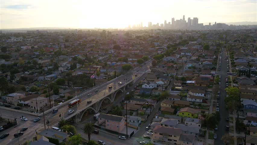Aerial of Downtown Los Angeles  | Shutterstock HD Video #1020237349