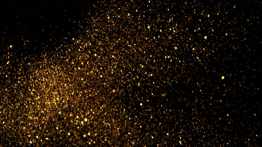 Golden glitter background in super slow motion shooted with high speed cinema camera at 1000fps 4K
