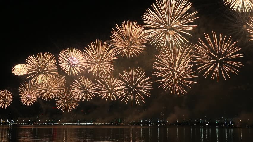 Fireworks lighting up the sky as part of 47th National Day celebrations in Abu Dhabi, UAE | Shutterstock HD Video #1020461359