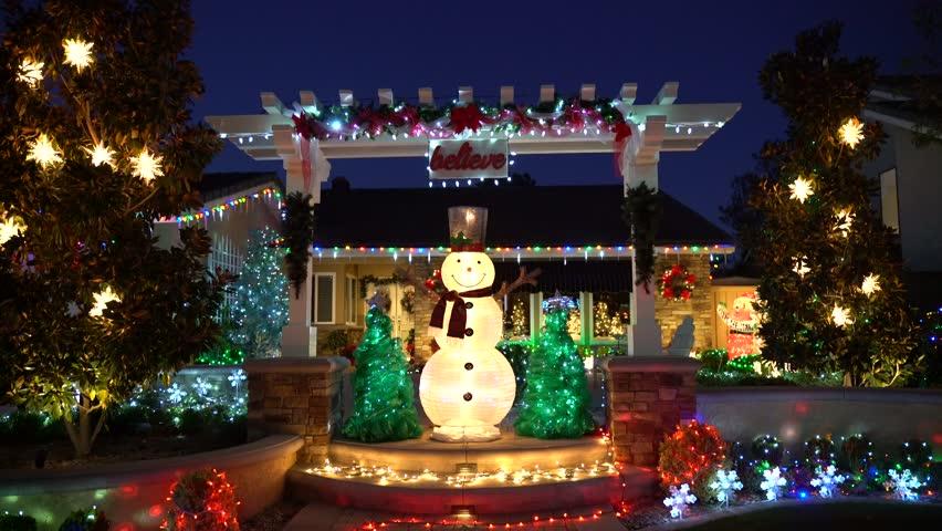 Brea Christmas Lights.Brea Dec 4 Beautiful Christmas Stock Footage Video 100 Royalty Free 1020532729 Shutterstock