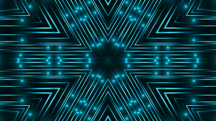 Abstract blue lights kaleidoscope background, 3d rendering computer generated background | Shutterstock HD Video #1020559999