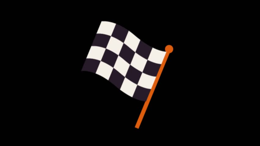 Flag symbol animation.Sport icons animation | Shutterstock HD Video #1020628909