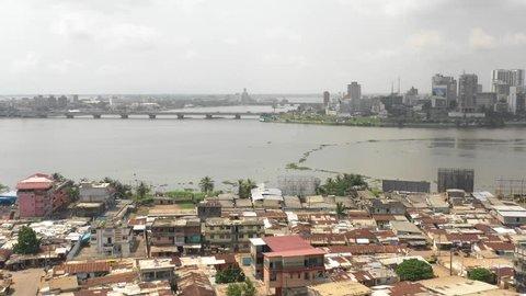 Abidjan, Ivory Coast, Africa, Blockaus Cocody, by drone