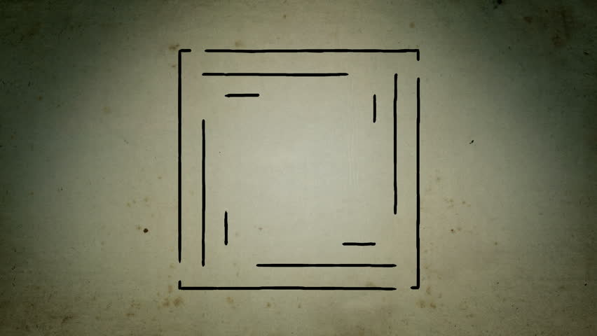 Mystical square lines drawing animation | Shutterstock HD Video #1020667099