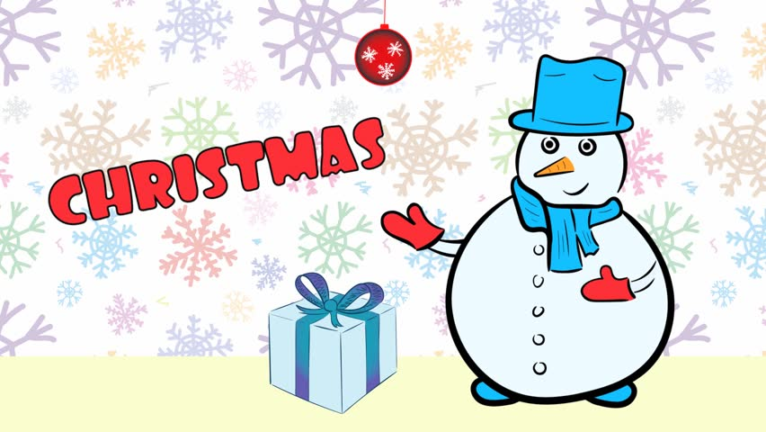 Christmas snowmen and sale color snow | Shutterstock HD Video #1020702259