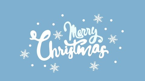 Merry Christmas Handwriting Animation. Calligraphy motion graphics. Merry Christmas Flat animation. Available HD video