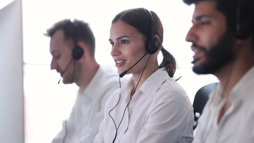 Contact Center Operator Consulting Clients In Call-Center | Shutterstock HD Video #1020851089