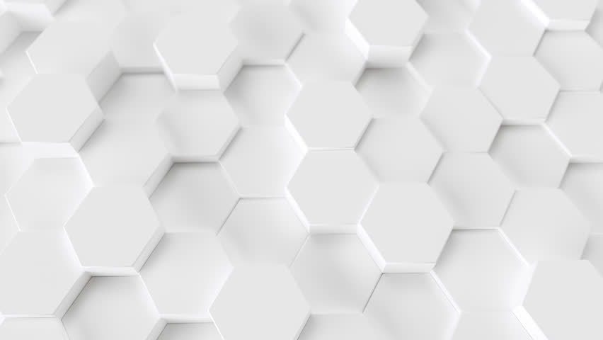 Technology hexagon pattern background  Loop, random waving motion. Seamless loop 4K UHD FullHD. | Shutterstock HD Video #1020873589