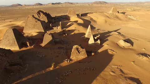 Pyramids in Sudan, built by the rulers of the kingdom of Kush.