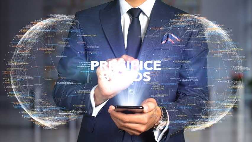 Businessman Hologram Concept Tech - PRECIPICE BONDS   Shutterstock HD Video #1020894679