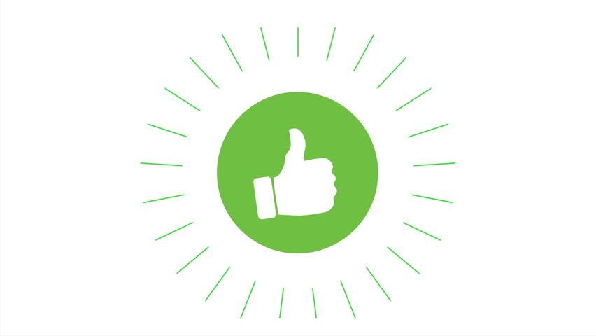 Animation of a cool thumbs like icon with green circle, 4K | Shutterstock HD Video #1020952909