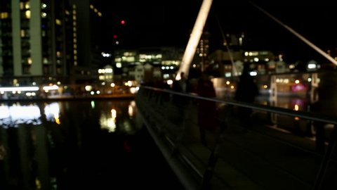 Amazing time lapse at the bridge in Canary Wharf