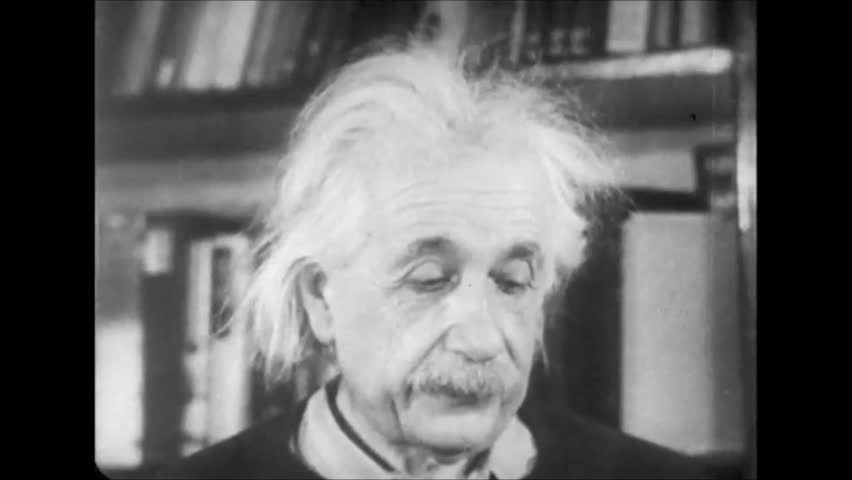 New Jersey, United State of America. About 1954. Albert Einstein talks about the theory of relativity.
