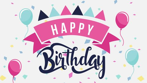Baby Birthday Card 1 Royalty Free Stock Footage