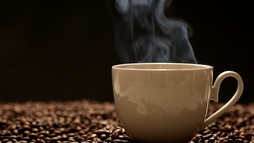 Of Coffee Stock With Cup Smoke Free1021447819Shutterstock Footage Video100Royalty by6f7g