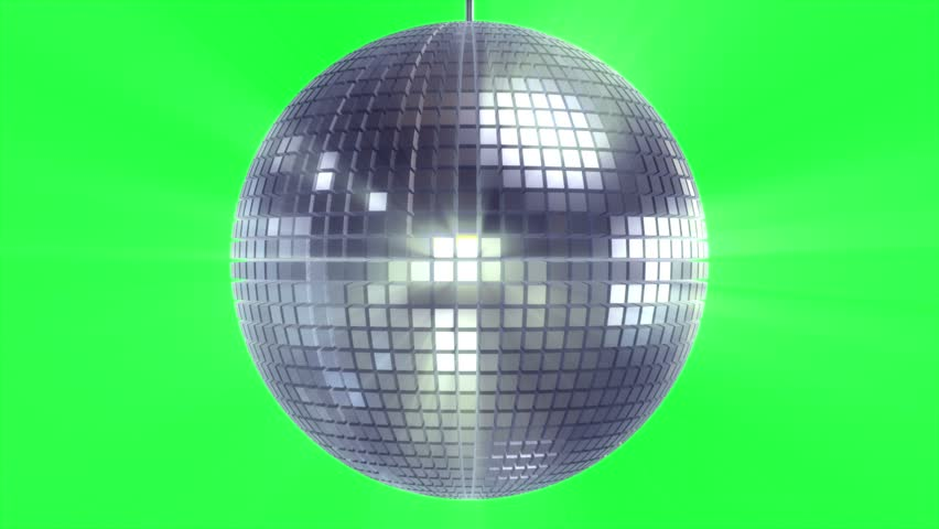 Rotating and glowing disco ball on green | Shutterstock HD Video #1021477879