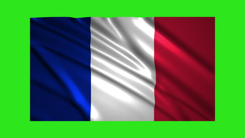 France flag waving,loopable on green screen | Shutterstock HD Video #1021485799