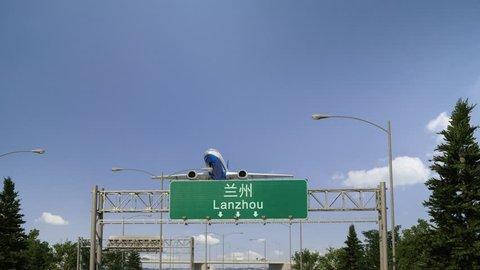 Airplane Take off Lanzhou