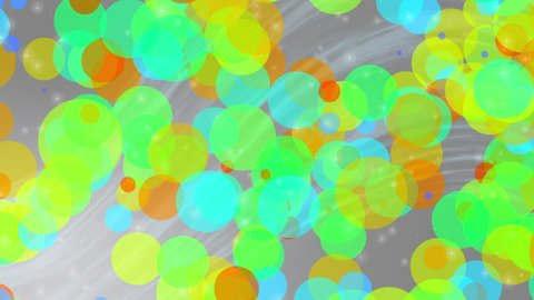 Loopable abstract colorfull soft particle background