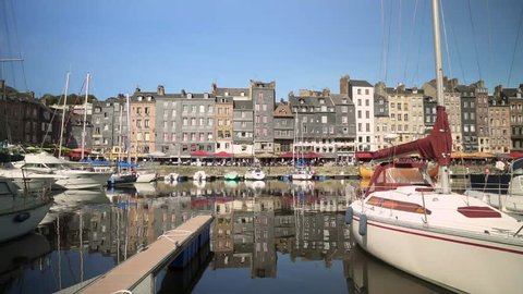The Harbour of Honfleur in France, Normandy, Europe.