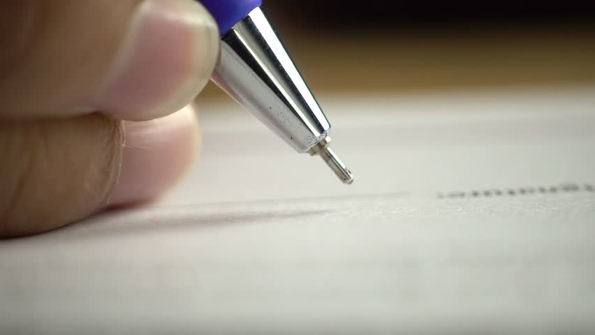 Signing contract. dolly shot, sliding camera move. | Shutterstock HD Video #1022079139