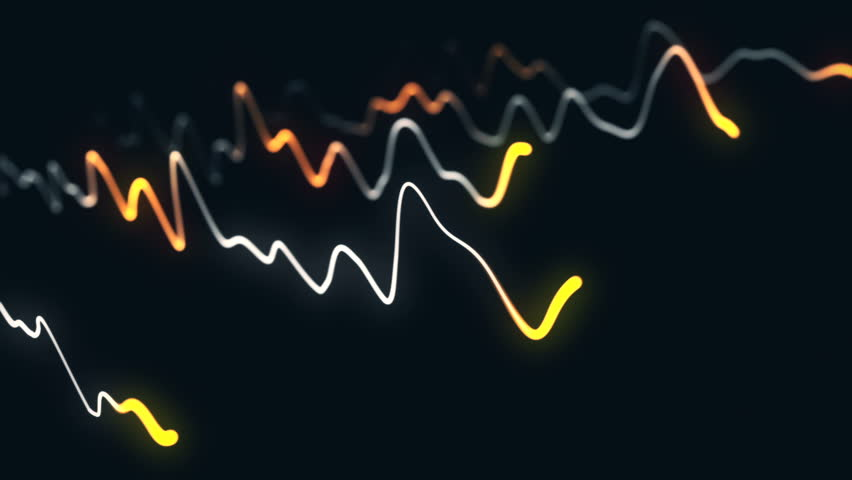 Animation growth of abstract charts with changing values of check points on dark background. Animation of seamless loop.   Shutterstock HD Video #1022110399