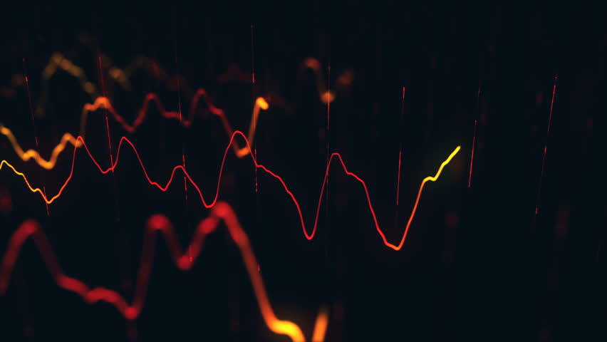 Animation growth of abstract charts with changing values of check points on dark background. Animation of seamless loop.   Shutterstock HD Video #1022110969