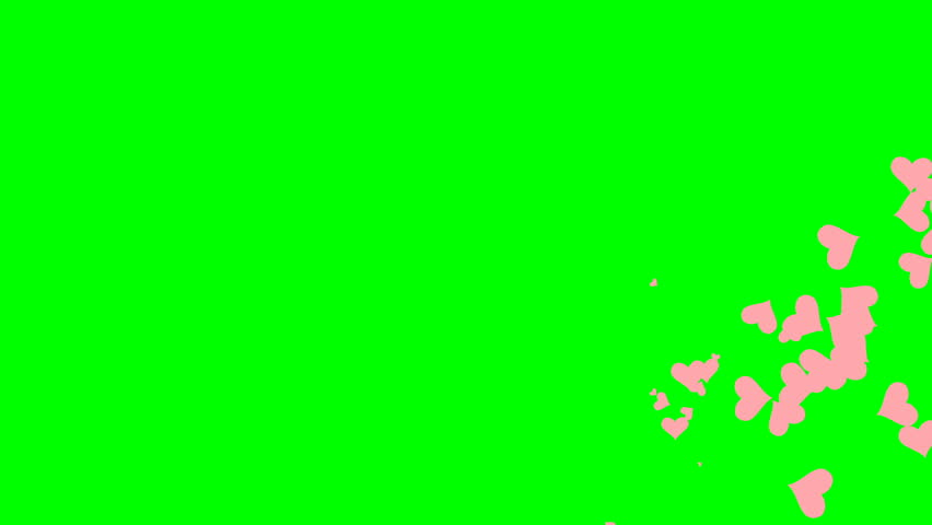 Looped animation on a green background. animated heart. #1022143219