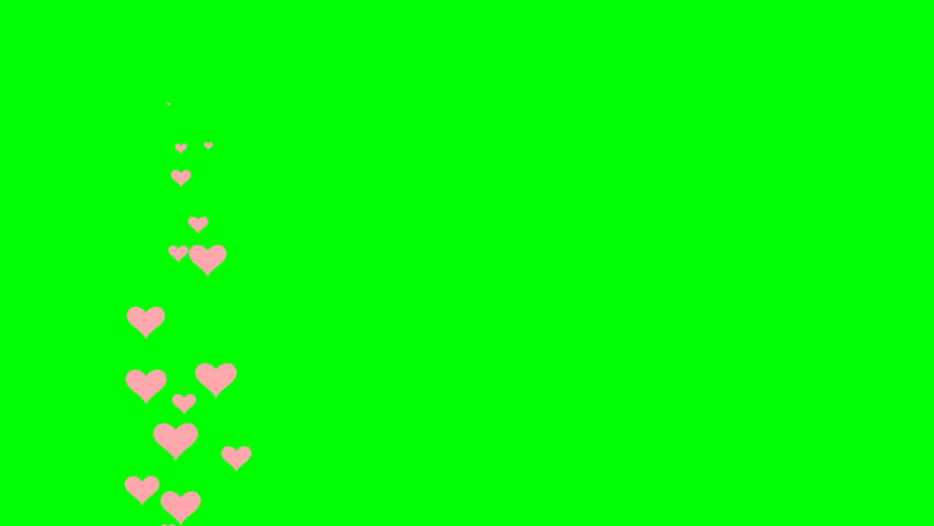Looped animation on a green background. animated heart. #1022143249