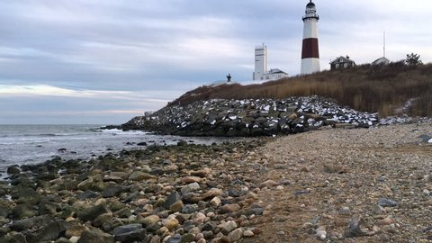 Montauk Point Light lighthouse in the hamlet of Montauk in the Town of East Hampton in Suffolk County, New York.