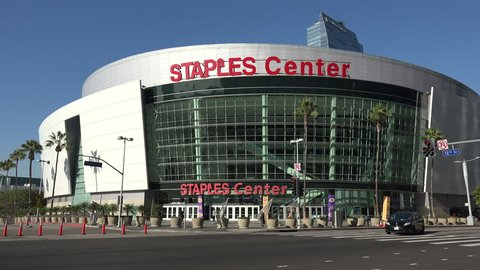 LOS ANGELES, CA/USA - JANUARY 7, 2019: The STAPLES Center where the 61st Annual Grammy Awards will be held