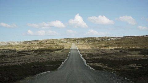 Falklands Road with Cloud Shadows.