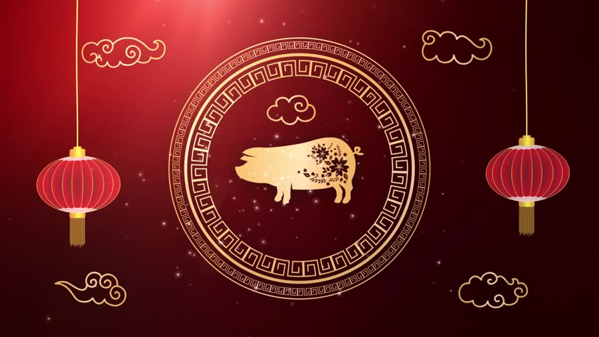 Chinese New Year 2019 Zodiac Sign - Year Of The Pig Background