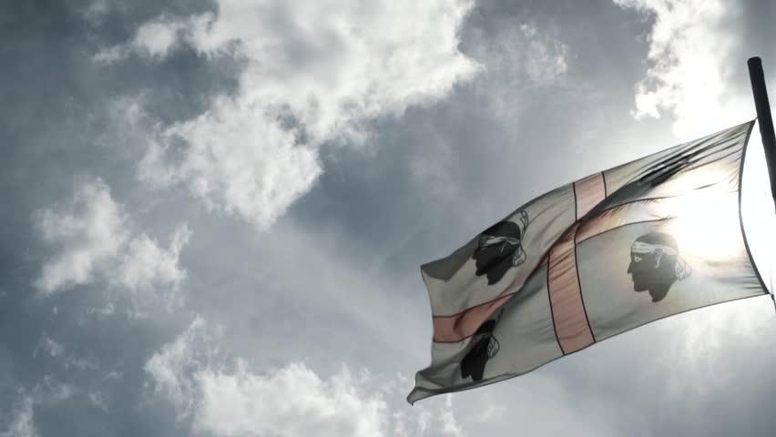 Flag of Sardinia Slow Motion  | Shutterstock HD Video #1022318569