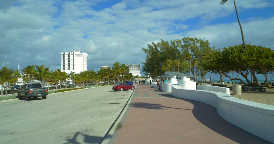 FORT LAUDERDALE, FL, USA - JANUARY 11, 2019: Fort Lauderdale Beach scene motion video 4k | Shutterstock HD Video #1022456419