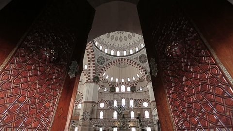 Istanbul Ottoman Sehzade Mosque Doors Entrance