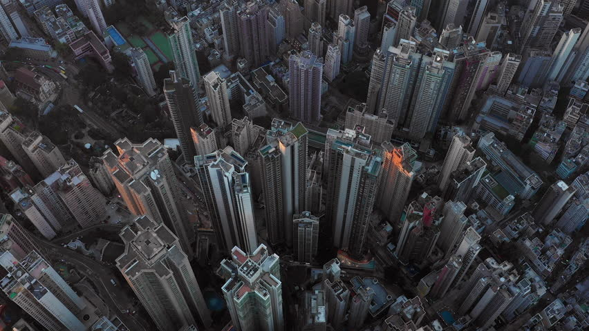 Fly over Urban city scene around Victoria peak and Victoria Harbour with Day light, Hong Kong Transportation, 4k high resolution video | Shutterstock HD Video #1022637769