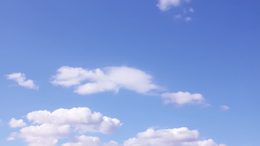Sunny clear weather, white formating clouds, blue transparent sky in horizon, building fast motion, rotation cloudscape, real after rain cloudy day. 1920x1080, 30 FPS. FHD. #1022659639