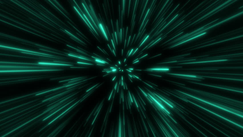 Hyperjump in space. Green rays. Moving through stars. 4K Seamless loop | Shutterstock HD Video #1022662849