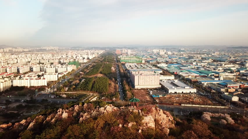 Aerial view of the industrial park. incheon City,Seoul Korea | Shutterstock HD Video #1022695999