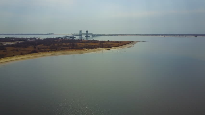 Aerial view of the Marine Parkway Bridge in Dead Horse Bay.